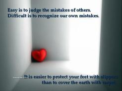 mistake of others